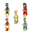 superhero cartoon theme vector image vector image
