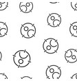 target audience icon seamless pattern background vector image