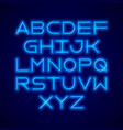 thin neon tube modern font typeface vector image vector image