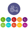 tractor icons set color vector image vector image