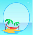 tropical seaside blue banner vector image