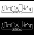 utica city skyline linear style editable file vector image vector image