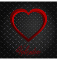 Valentine meatllic diamond heart and text vector image vector image
