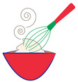 Whisk and Bowl vector image vector image