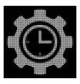 white halftone time setup gear icon vector image