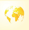 yellow sunny world map vector image vector image