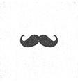 Retro hannd drawn mustache icon Symbol of vector image