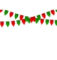 Colorful bunting flag isolated on white background vector image