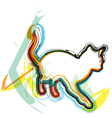 Abstract Cat vector image vector image