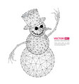 abstract polygonal snowman vector image