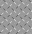 Alternating black and white diagonally cut squares vector image vector image