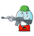 army gumball machine character cartoon vector image