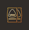 bags with sand colored outline icon or vector image vector image