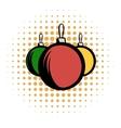 Balls comics icon vector image vector image