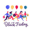 banner template for black friday sale people vector image vector image