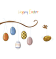 birds with eggs vector image vector image