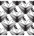 butterflies black and white seamless pattern vector image