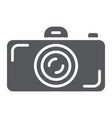 camera glyph icon lens and photo shutter sign vector image vector image