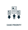 case priority icon symbol creative sign vector image