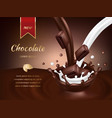chocolate advertisement poster realistic vector image vector image