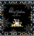 christmas banner or postcard with candle vector image vector image