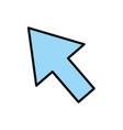 click arrow cursor vector image vector image