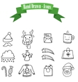 Collection stock icons of Christmas vector image vector image