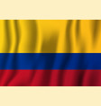 colombia realistic waving flag national country vector image vector image