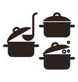 cooking pot set vector image
