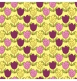 cute tulips pattern vector image vector image