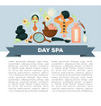 day spa service promotional banner with sample vector image vector image