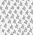 Doodle abstract pattern with stars Black and white vector image vector image