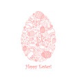 easter invitation card of egg shape vector image vector image