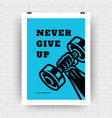 fitness motivation poster retro typographic quote vector image