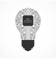 flat icon a light bulb with a computer vector image