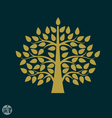 Gold tree symbol in Asia style