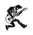 guitarist playing songs on vector image vector image