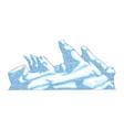 ice hummock or glacier mountain or rock in sketch vector image vector image