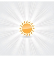 icon of orange sun vector image vector image