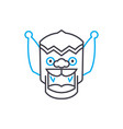 indian mask linear icon concept indian mask line vector image