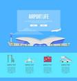 international passenger airport life guide vector image vector image