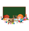 kid with math toy banner vector image