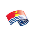 kiribati flag on a white vector image