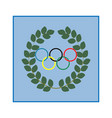 laurel wreath and ring modern symbol of victory vector image