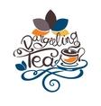 Lettering - Dargeeling Tea vector image
