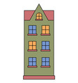 living building facade house front exterior vector image vector image