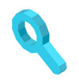 magnifier icon for designation of search button vector image vector image