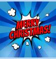 merry christmas pop art comic book text vector image vector image