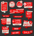 modern sale banners labels and tags collection vector image vector image