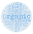 Organic Skin Care Products text background vector image vector image
